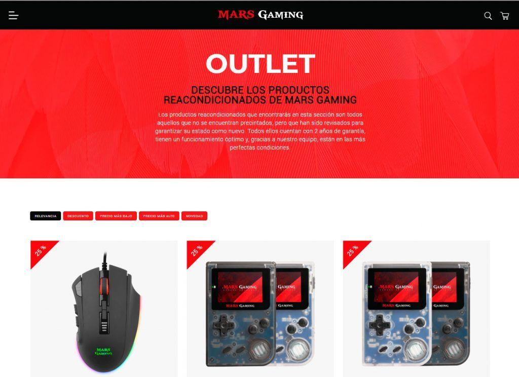 outlet de mars gaming