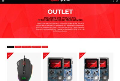 Outlets para gamers