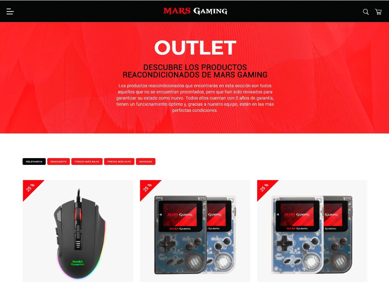 Outlets Mars Gaming
