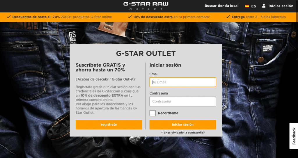 Outlet online de G Star Raw