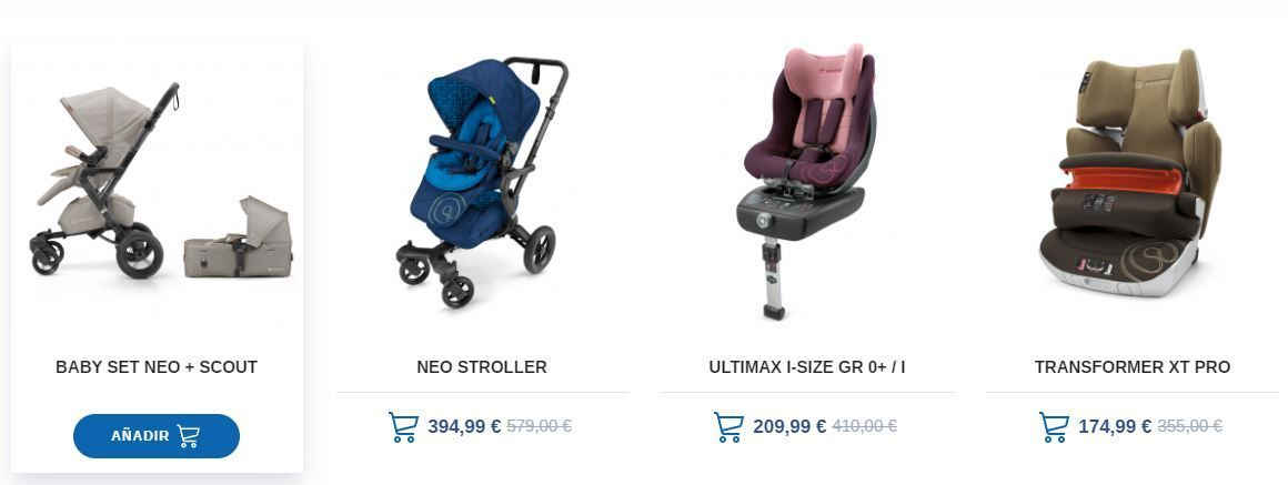 Carritos de bebe en el outlet de Jané